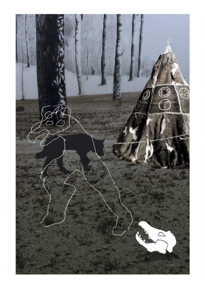 Alain Campos, Antonio Gallego, et José Maria Gonzalez alias Banlieue-Banlieue (création à « trois têtes »), Sans Titre, 2019, tirage pigmentaire, 50 cm x 75 cm | Aedaen Gallery