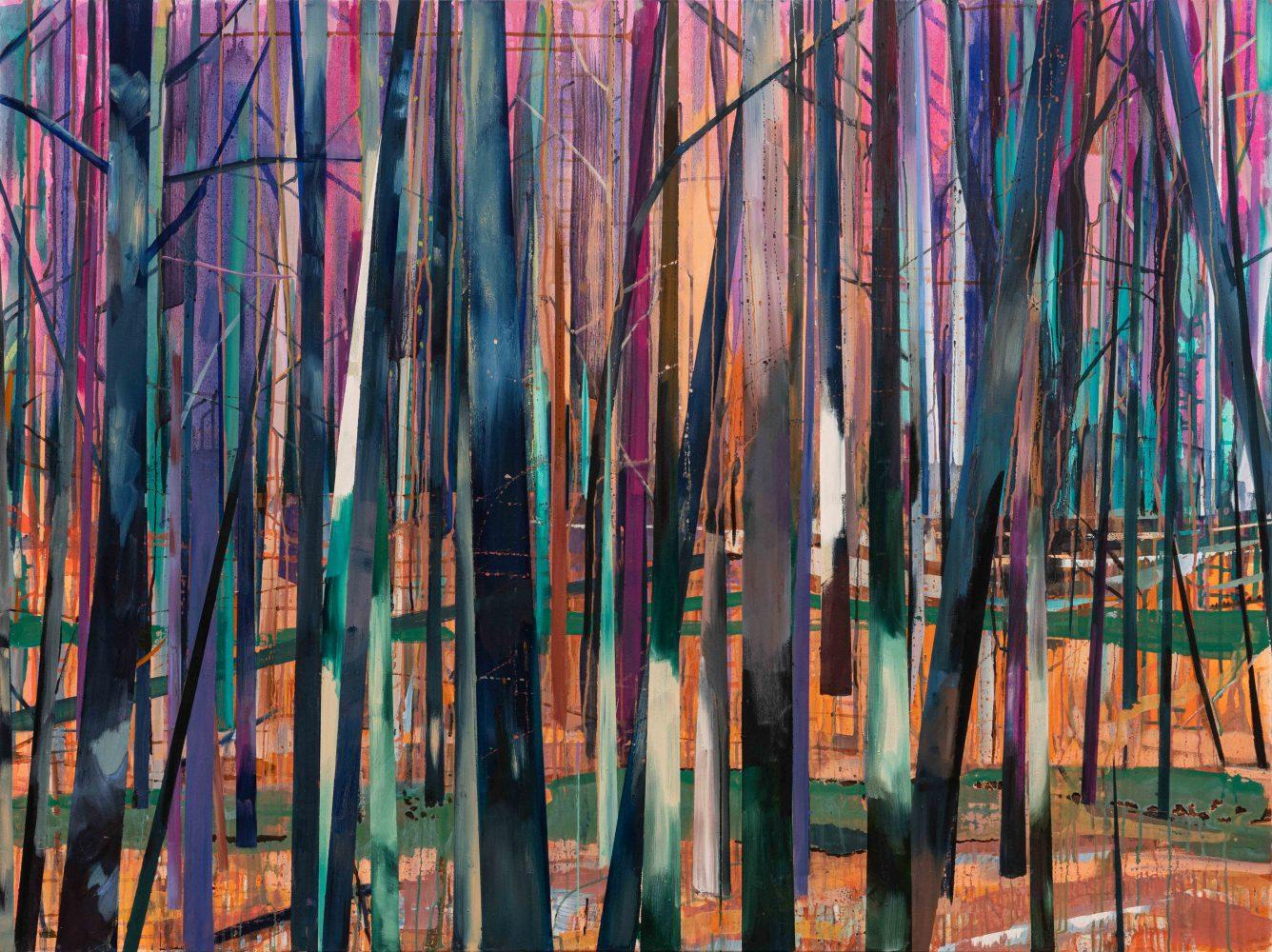 """""""Schattierung"""" Theresa Möller, 2019, huile et acrylique sur toile, 120x160cm."""