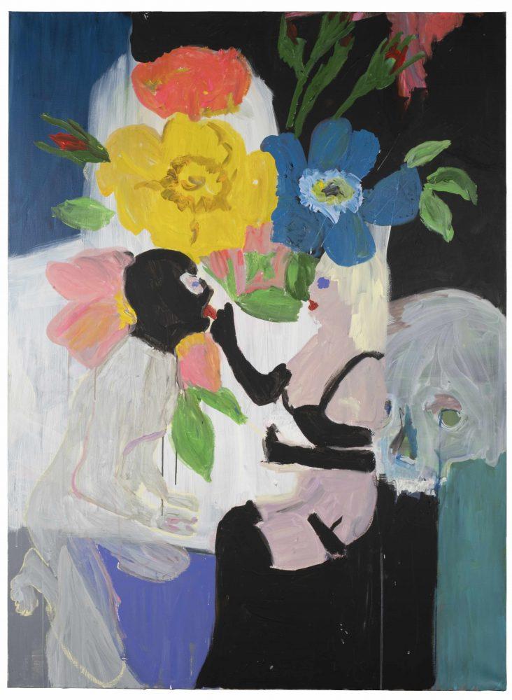 Erotiquement surdeterminé-Stéphanie Lucie Mathern-2019-Acrylique sur toile-162X114cm-Courtesy Galerie Pascal Gabert
