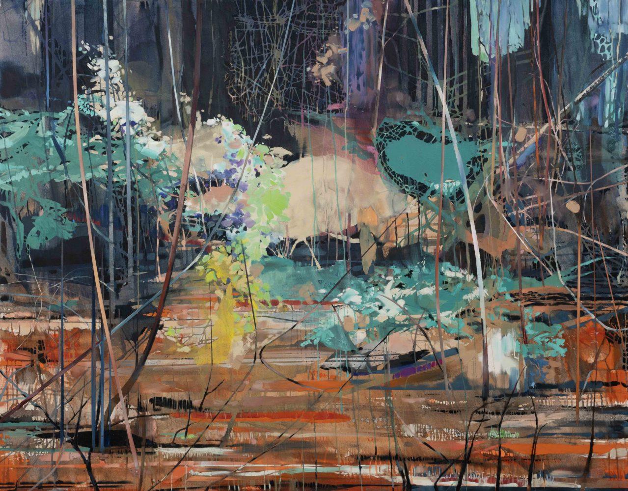 Theresa Möller Overgrowth – 2020 – Acryl and oil on canvas -190x150cm