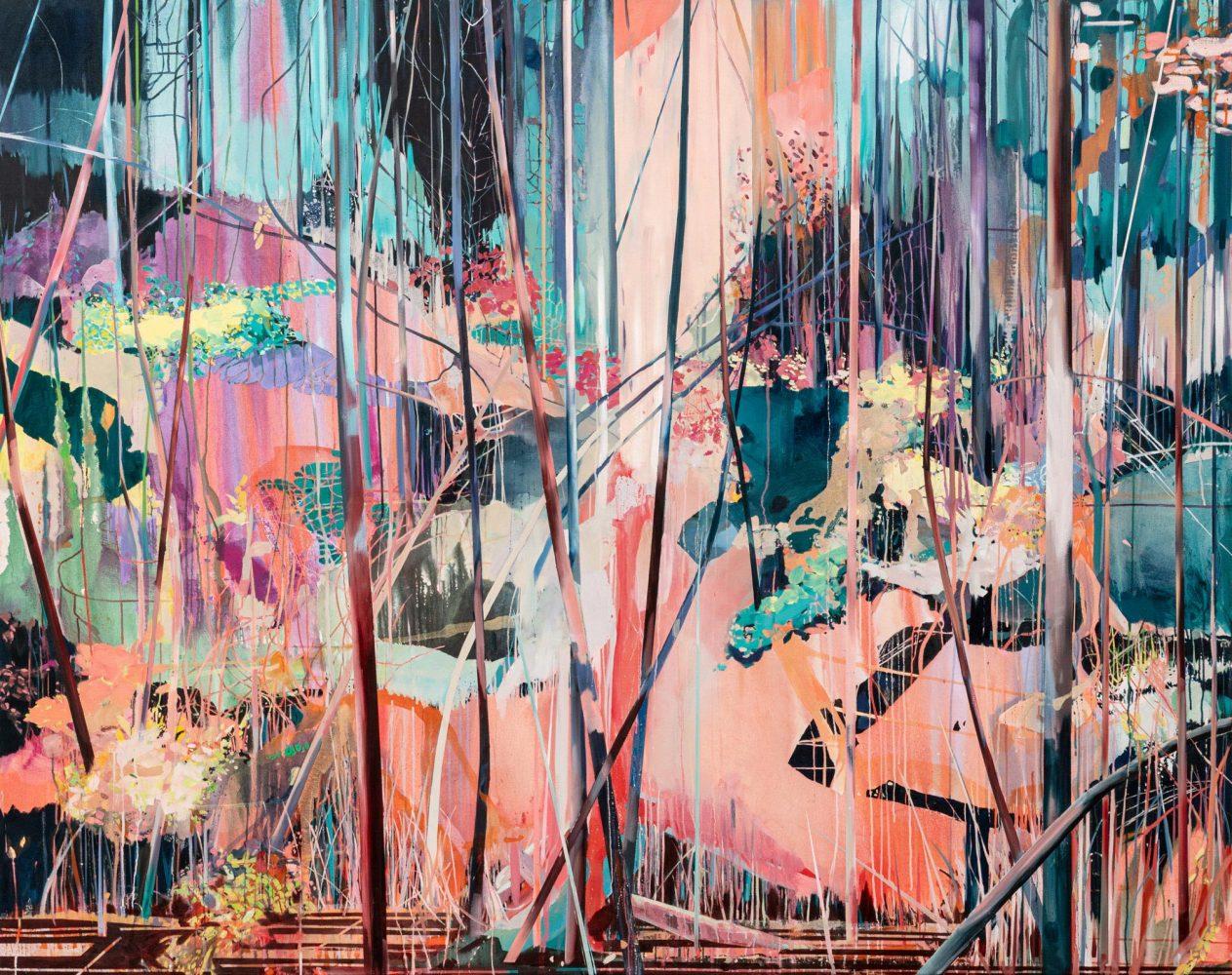 Theresa Möller - Entanglements - 2020 - Acryl and oil on canvas - 190x250cm